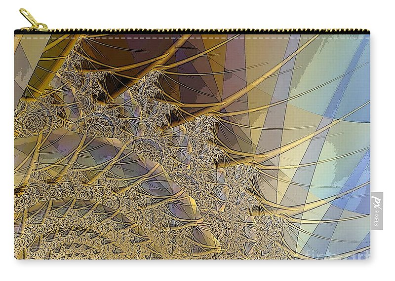 Dream Catcher Carry-all Pouch featuring the digital art Dream Catcher by Ron Bissett