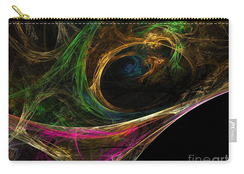 Carry-all Pouch featuring the digital art Dream Channel by Deborah Benoit
