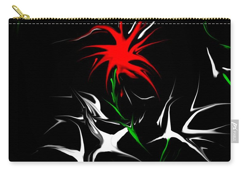 Abstract Carry-all Pouch featuring the digital art Dream Garden II by David Lane