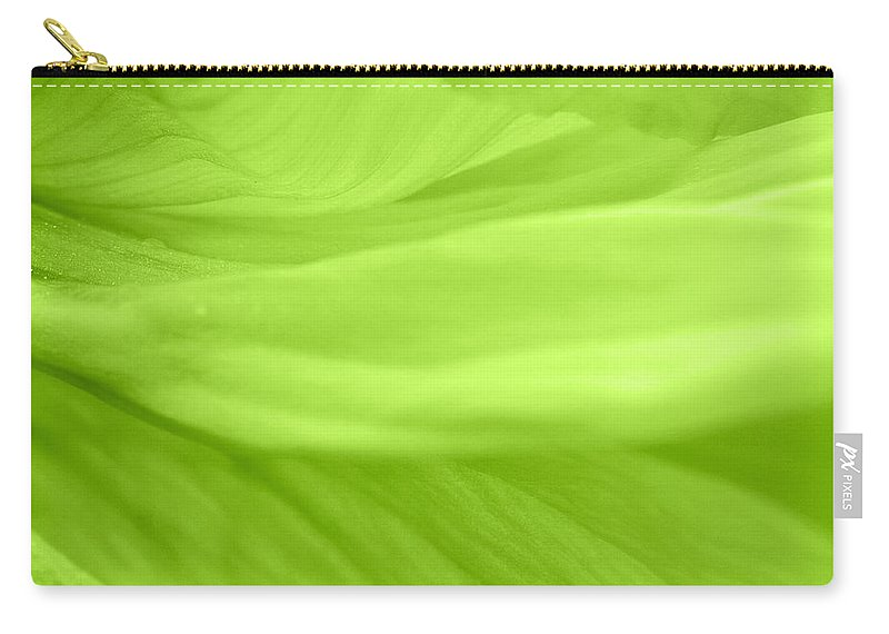 Poppy Carry-all Pouch featuring the photograph Dream Green by Angela Doelling AD DESIGN Photo and PhotoArt