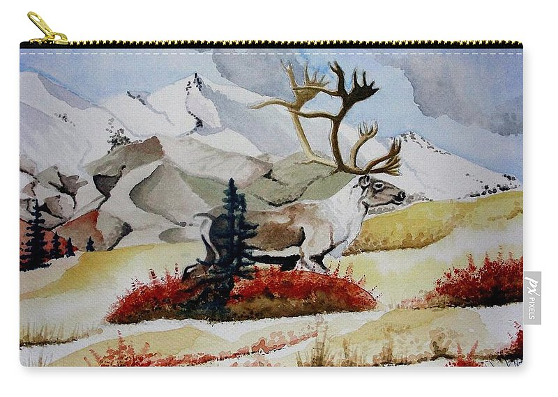 Alaska Carry-all Pouch featuring the painting Dream Hunt by Jimmy Smith