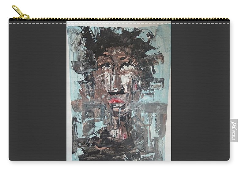 Portrait Carry-all Pouch featuring the painting Dream On by Samuel Aikins