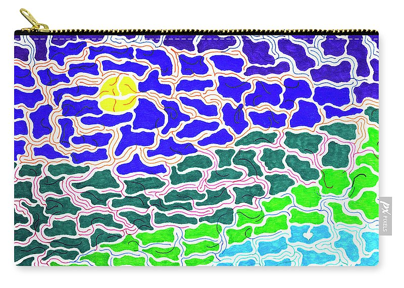 Mazes Carry-all Pouch featuring the drawing Dream Scape by Steven Natanson