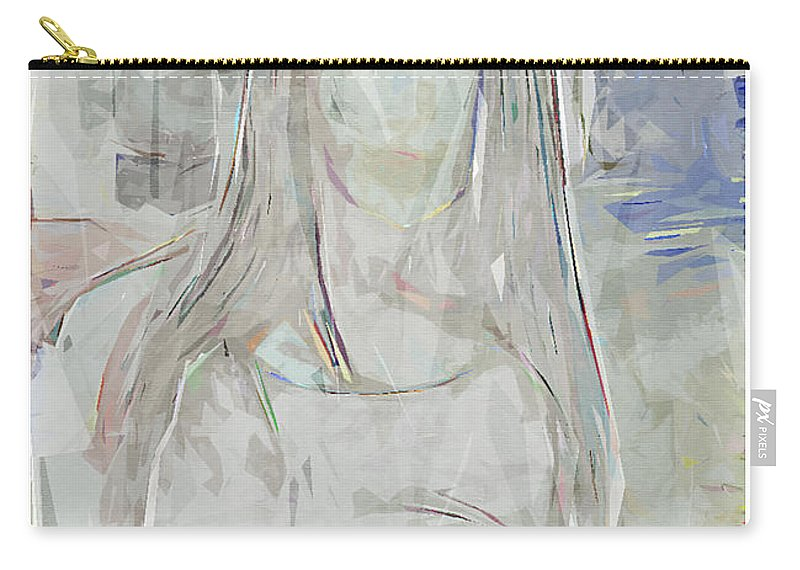 Abstract Carry-all Pouch featuring the painting Dream Stranger by Michael Paulhus