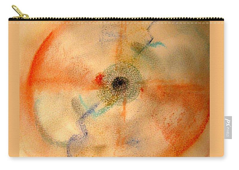 Dreamcatcher Carry-all Pouch featuring the pastel Dreamcatcher by Dawn Richerson