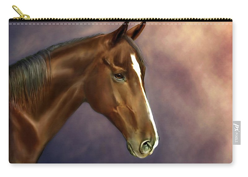 Bhymer Carry-all Pouch featuring the painting Dreamer by Barbara Hymer