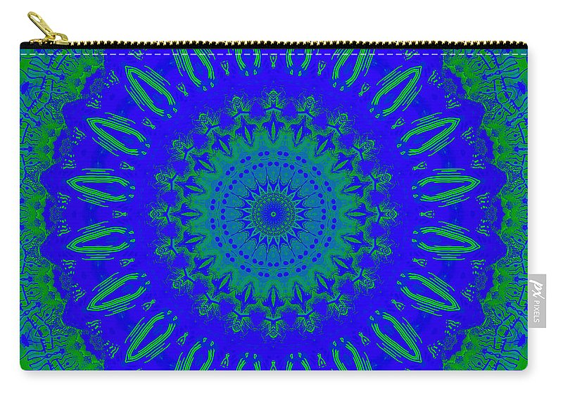 Digital Carry-all Pouch featuring the digital art Dreamer Kaleidoscope by Joy McKenzie