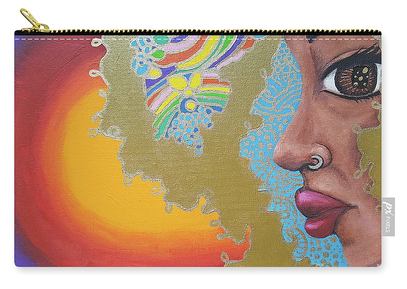 African American Carry-all Pouch featuring the painting Dreaming by Alima Newton