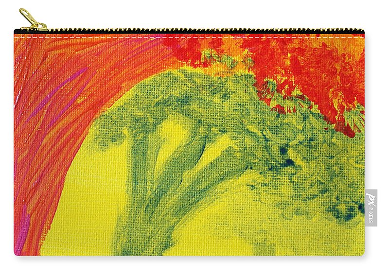 Orange Carry-all Pouch featuring the painting Dreaming And Shadows by Laurette Escobar