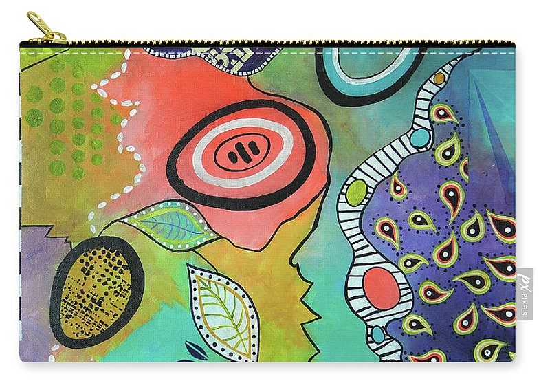 Mixed Media Carry-all Pouch featuring the mixed media Dreaming In Colour 2 by Wendy Provins