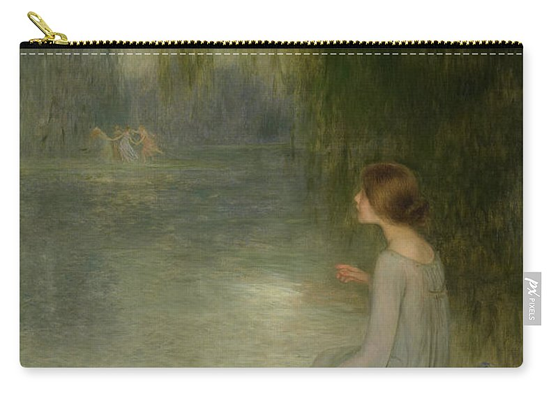 Joan Carry-all Pouch featuring the painting Dreaming by Joan Brull