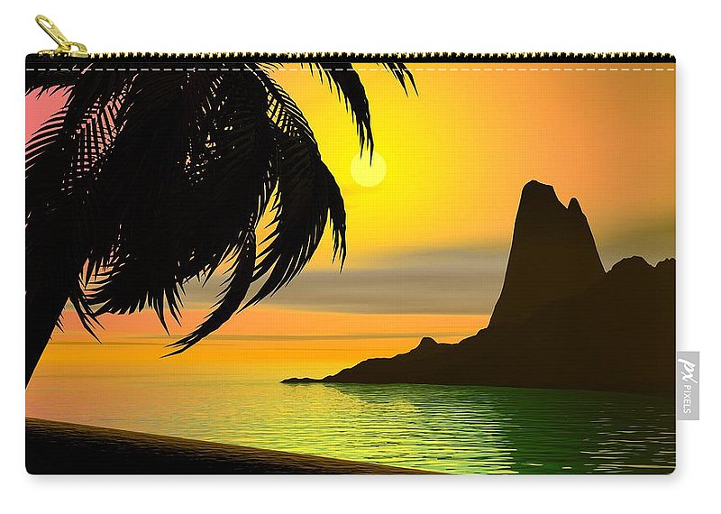 Landscape Carry-all Pouch featuring the digital art Dreaming On A Cold January Day by David Lane