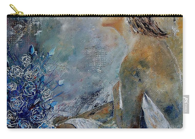 Girl Carry-all Pouch featuring the painting Dreaming Young Girl by Pol Ledent