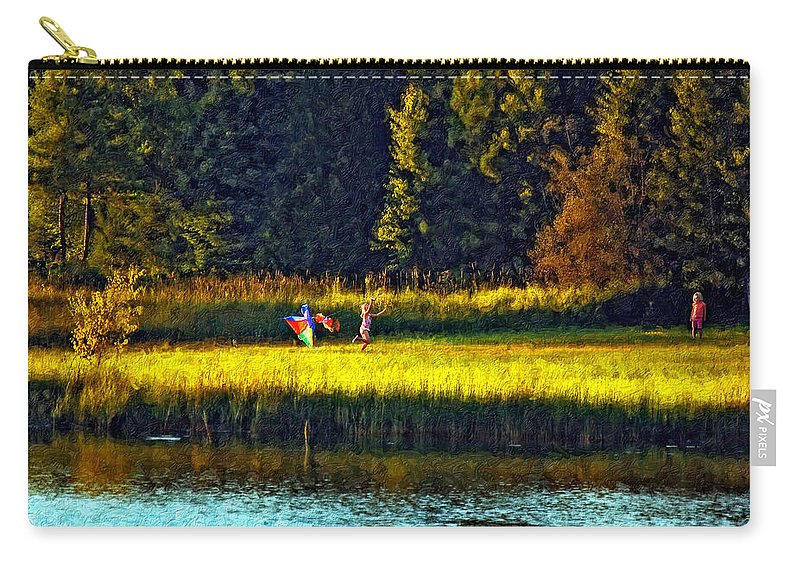 Kids Carry-all Pouch featuring the photograph Dreams Can Fly Impasto by Steve Harrington