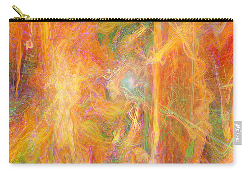 Dreams In Color Art Carry-all Pouch featuring the digital art Dreams In Color by Linda Sannuti