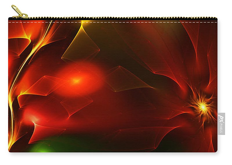 Digital Painting Carry-all Pouch featuring the digital art Dreams Of Christmas Past by David Lane
