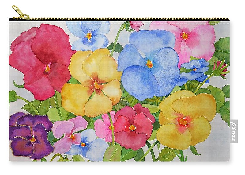 Flowers Carry-all Pouch featuring the painting Dreams of Spring by Mary Ellen Mueller Legault
