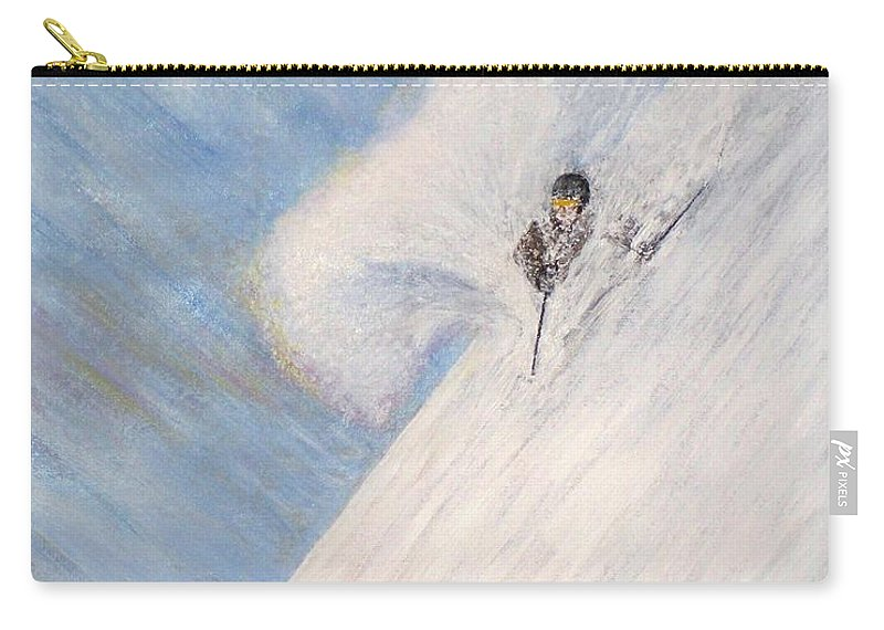 Landscape Carry-all Pouch featuring the painting Dreamsareal by Michael Cuozzo