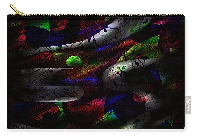 Abstract Carry-all Pouch featuring the digital art Dreamy by Rachel Christine Nowicki