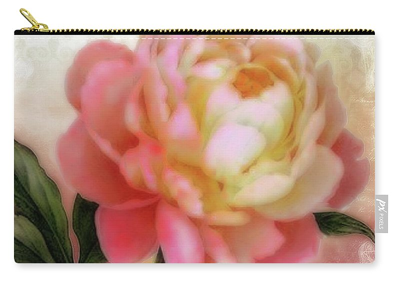 Dreamy Carry-all Pouch featuring the digital art Dreamy Rose by Elizabeth Mix