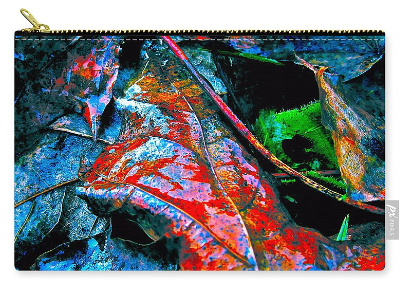 Leaf Carry-all Pouch featuring the photograph Drenched In Color by Gwyn Newcombe