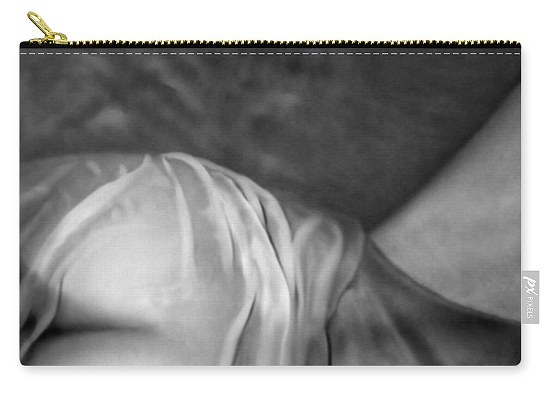 Wet Carry-all Pouch featuring the photograph Drenched Nude - Self Portrait by Jaeda DeWalt