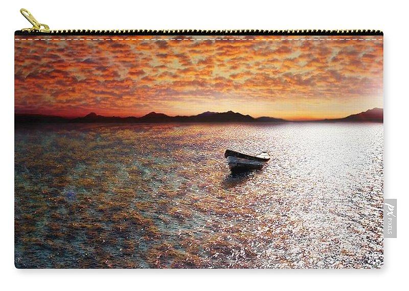 Ocean Carry-all Pouch featuring the photograph Drift Away by Jacky Gerritsen