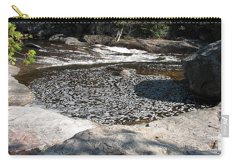 River Carry-all Pouch featuring the photograph Drifting Dreams by Kelly Mezzapelle