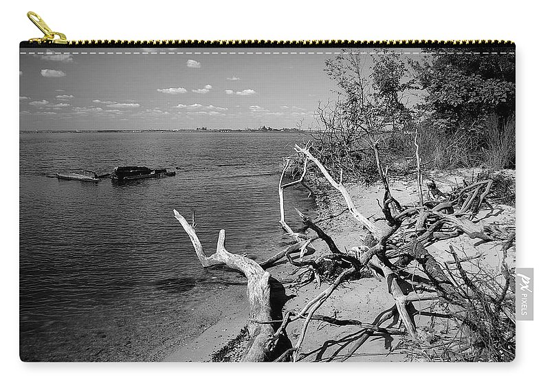 2d Carry-all Pouch featuring the photograph Driftwood by Brian Wallace