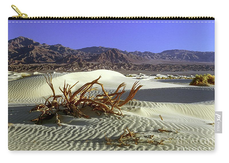 Sand Carry-all Pouch featuring the photograph Driftwood Dune by Jim And Emily Bush