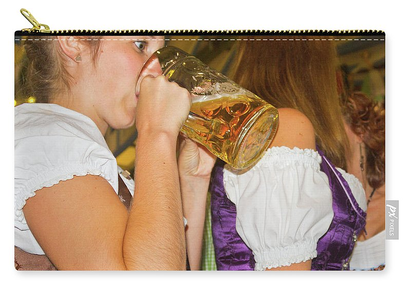 German Carry-all Pouch featuring the photograph Drink Up by Bernard Barcos