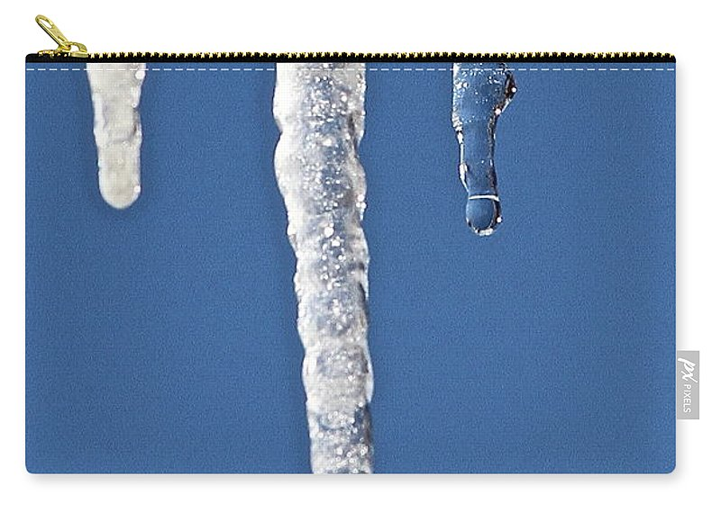 Ice Carry-all Pouch featuring the photograph Drip by Rick Monyahan