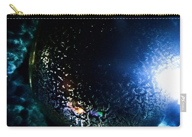 Dripping Cell By Ryan Davis Carry-all Pouch featuring the digital art Dripping Cell by Ryan Davis