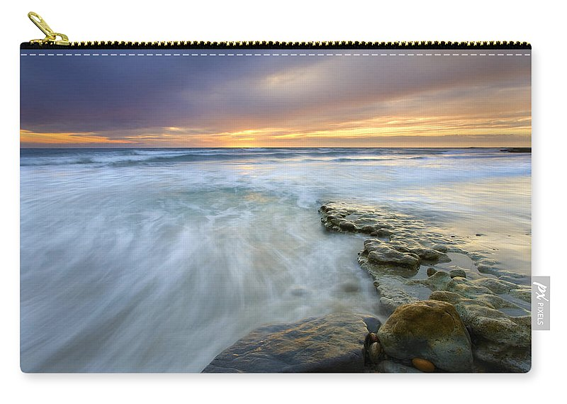 Rocks Carry-all Pouch featuring the photograph Driven Before The Storm by Mike Dawson
