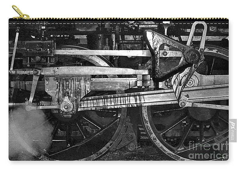Trains Carry-all Pouch featuring the photograph Driving Wheels by Richard Rizzo