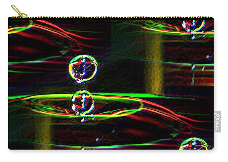 Water Carry-all Pouch featuring the photograph Droplet by Tim Allen