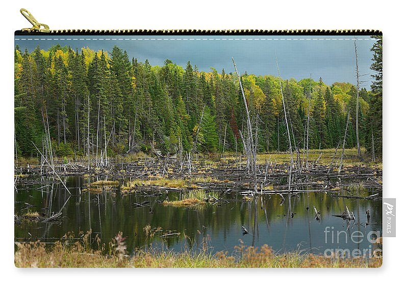 Drowned Trees Carry-all Pouch featuring the photograph Drowned Trees by Maxim Images Prints