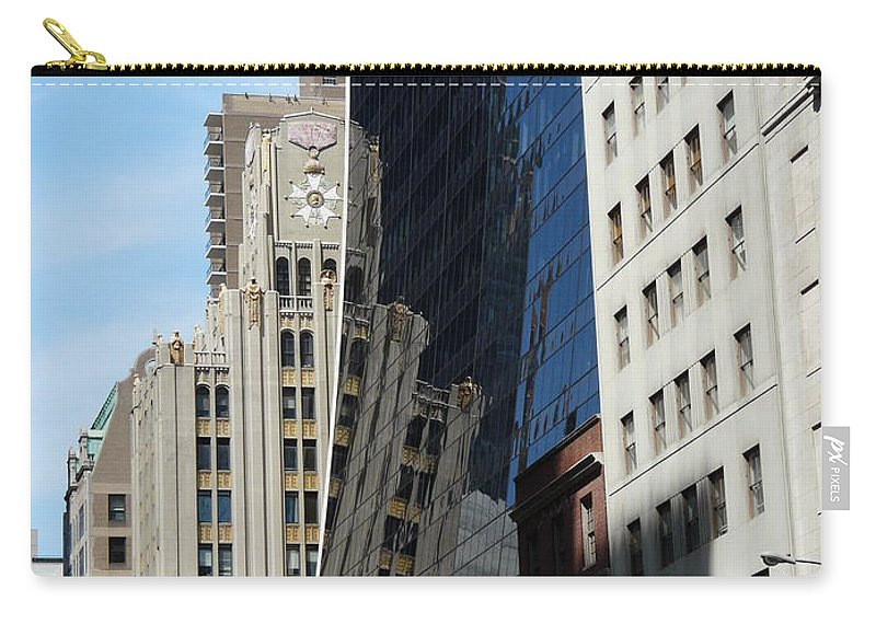 New York Carry-all Pouch featuring the photograph Drowning By Reflection by Valerie Ornstein