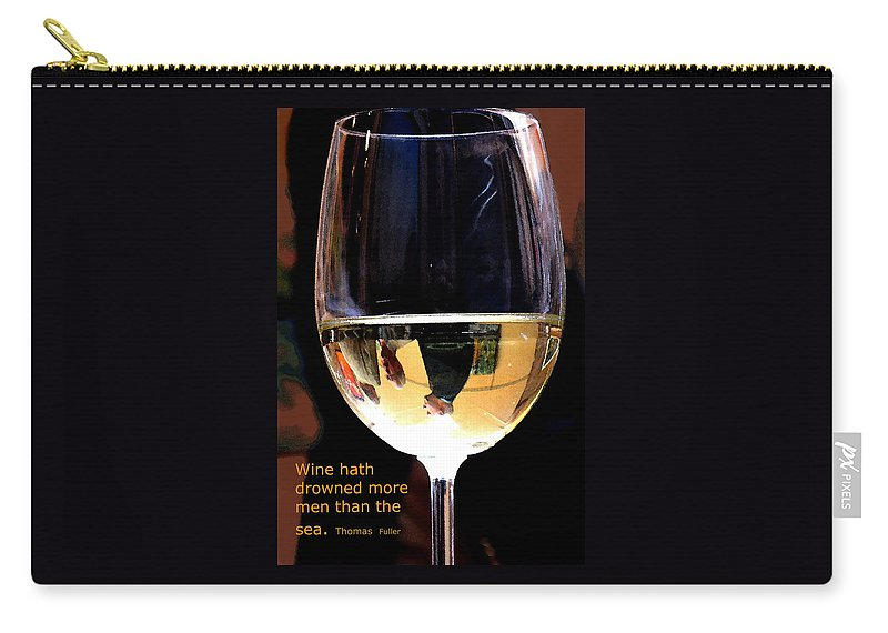 Wine Carry-all Pouch featuring the photograph Drowning by Ian MacDonald