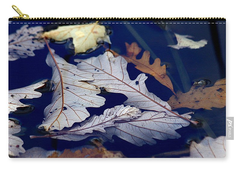 Leaf Carry-all Pouch featuring the photograph Drowning In Indigo by Doris Potter