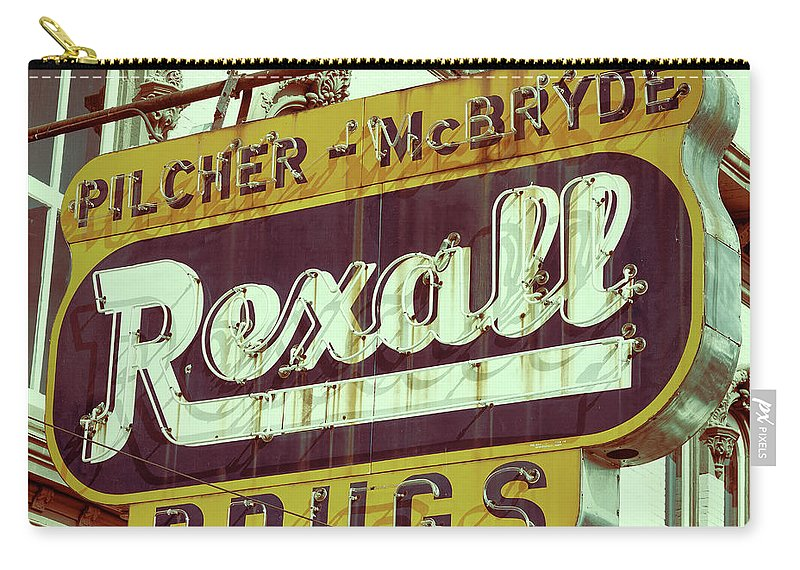 Selma Carry-all Pouch featuring the photograph Drug Store #1 by Stephen Stookey