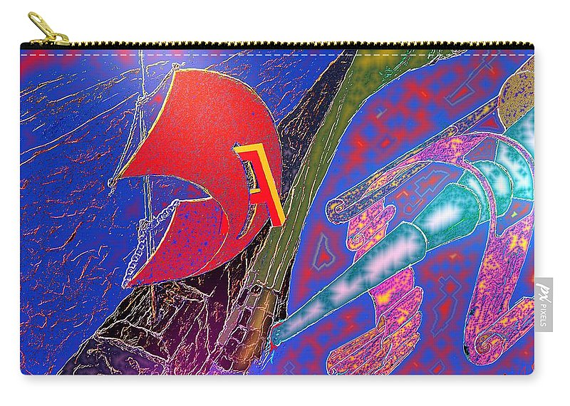 Drugs Carry-all Pouch featuring the digital art Drugs by Helmut Rottler