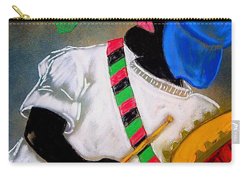 Urban Neo-renaissance Carry-all Pouch featuring the painting Drumline by Bruce Jernigan