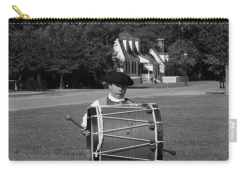 Colonial Carry-all Pouch featuring the photograph Drummer Boy by Eric Liller