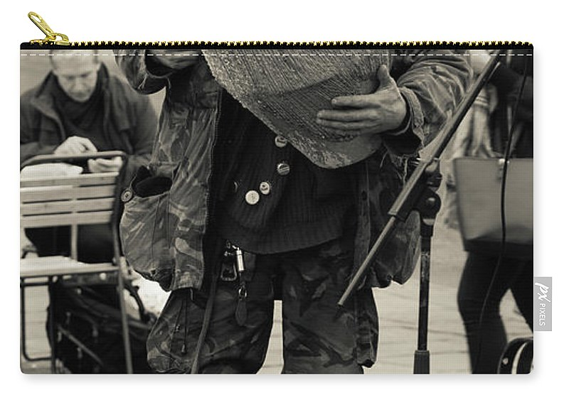 Bath Carry-all Pouch featuring the photograph Drummer by Steven Sexton