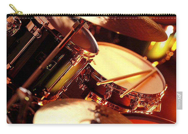 Drums Carry-all Pouch featuring the photograph Drums by Robert Ponzoni