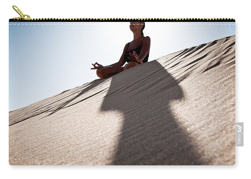 Yoga Carry-all Pouch featuring the photograph Dry Meditation by Scott Sawyer