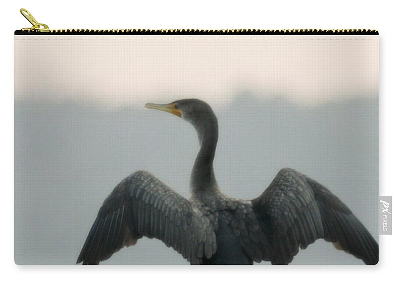 Bird Carry-all Pouch featuring the photograph Drying Out by Phill Doherty