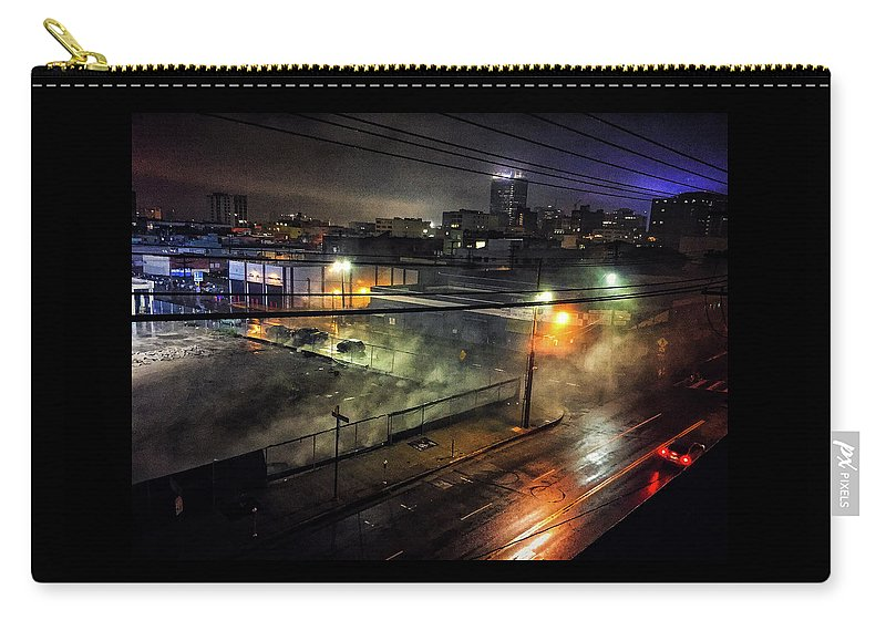 Los Angeles Carry-all Pouch featuring the photograph Los Angeles Night by Braden Moran