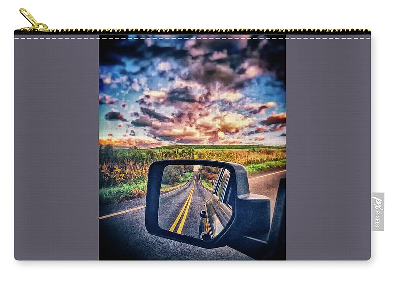 Carry-all Pouch featuring the photograph Dual Vision by Marvin Borst